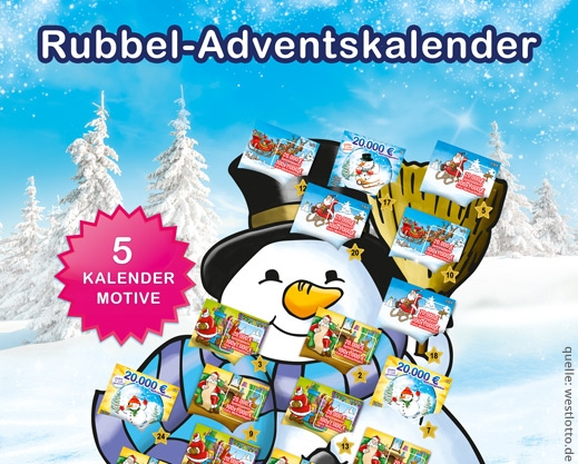 adventskalender rubbellose