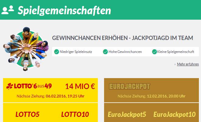 Lotto5 Spielgemeinschaft