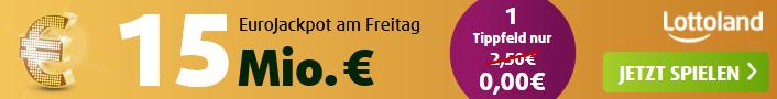 EuroJackpot am Freitag: 15 Millionen Euro