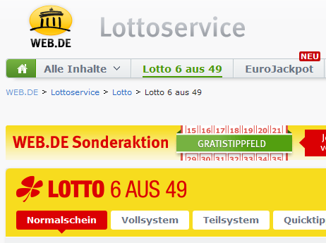 Lotto Gewinninformation