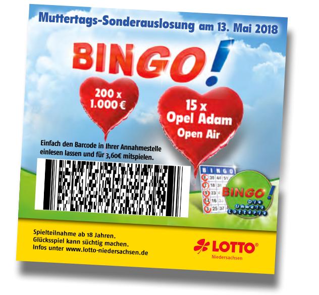 Bingo Sonderauslosung Gewinner