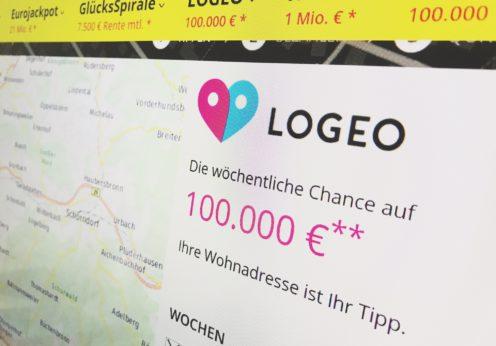 LOGEO Webseite abfotografiert