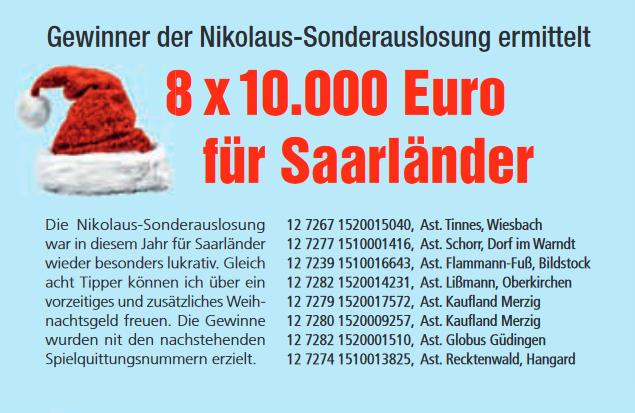 Nikolausauslosung Lotto