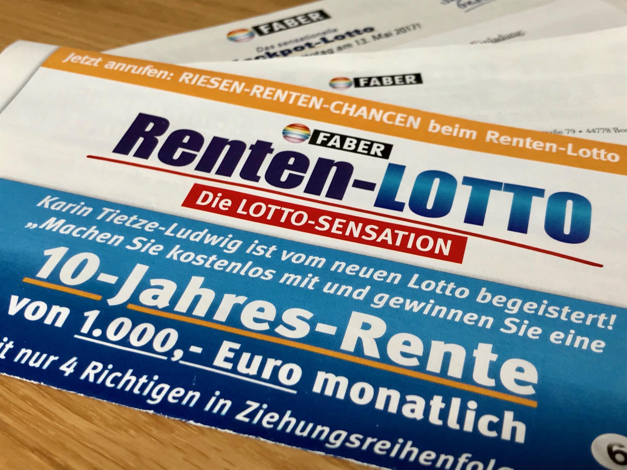 Renten Lotto Faber Gewinnzahlen