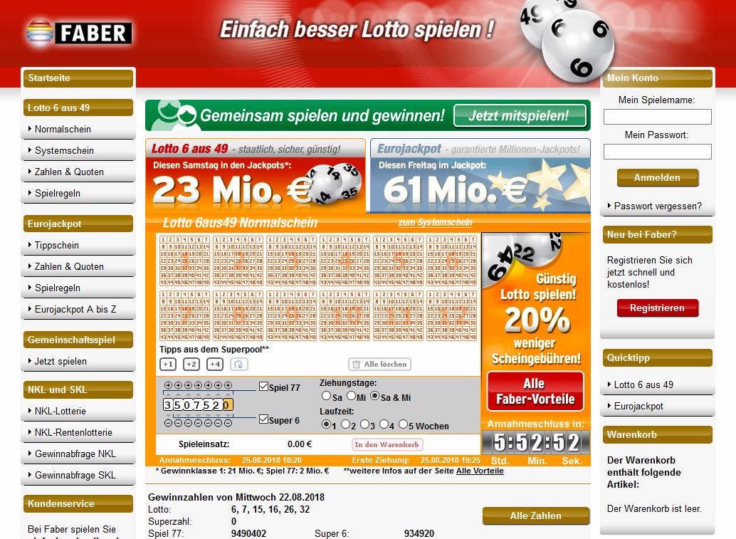 Www.Faber Lotto.De