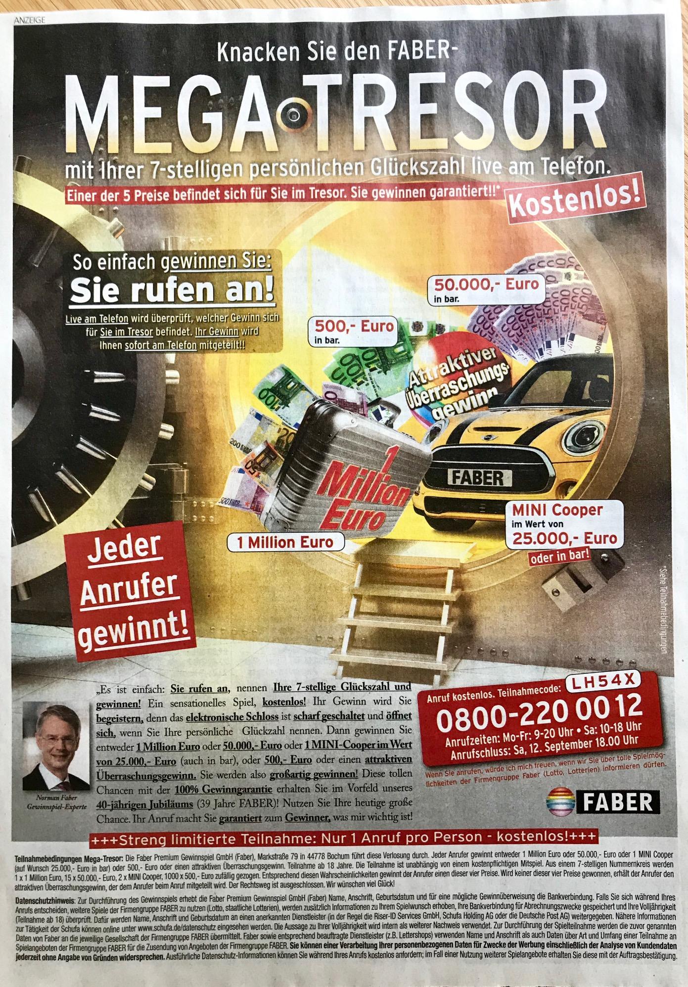 Faber Lotto Erfahrungen