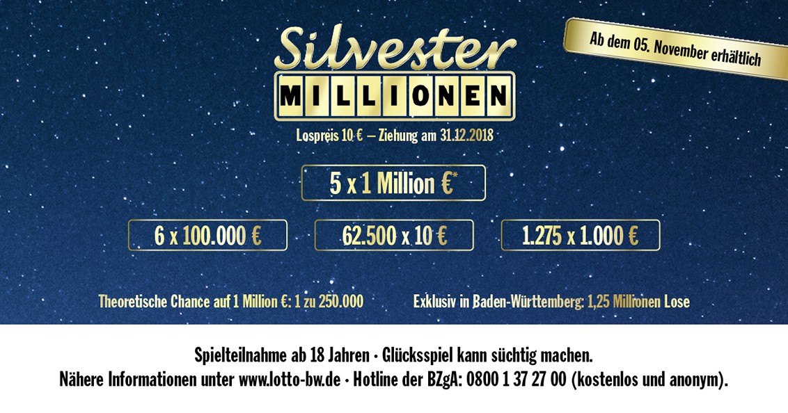 Auslosung Silvester Millionen