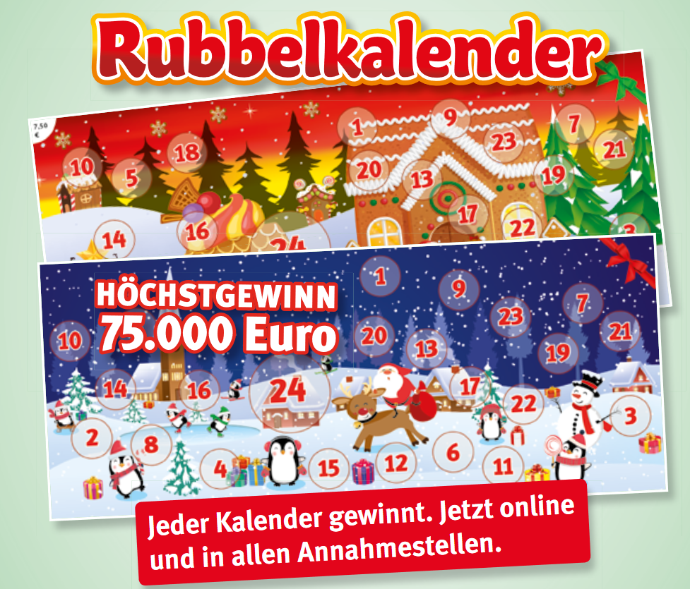 Rubbelkalender Lotto